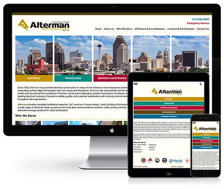 Alterman Electric Web Design