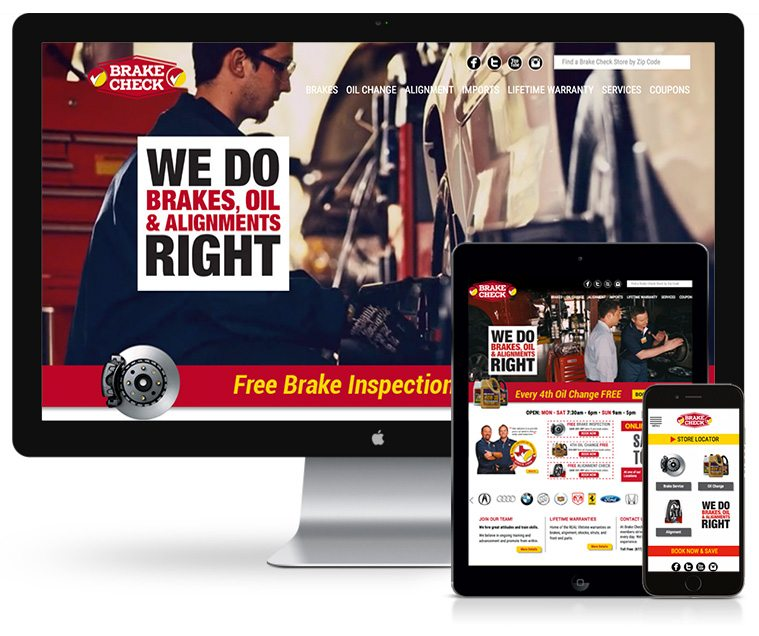 Brake Check Web Design