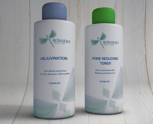 Rosario Skin Care Bottles