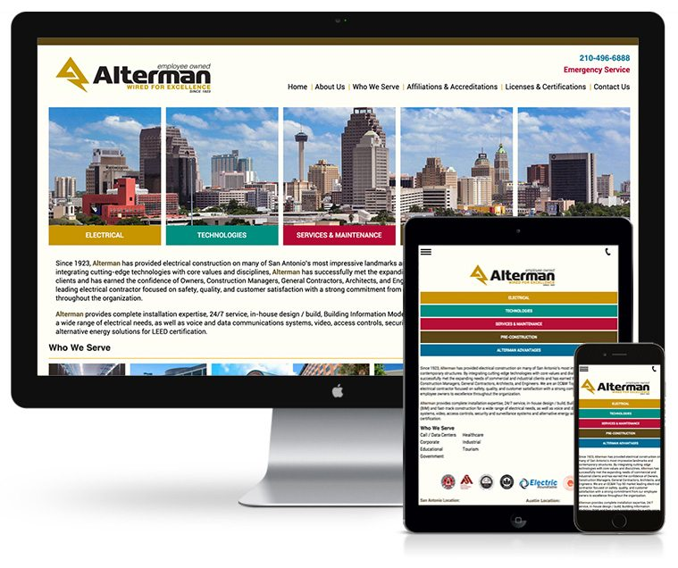 Alterman Electric Web Design
