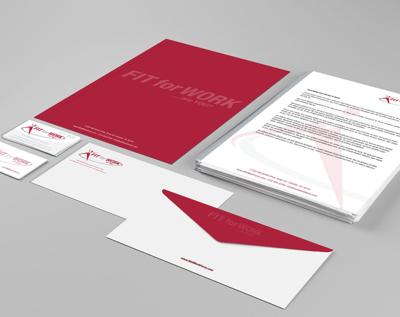 FIT for WORK  Stationery Benson Design