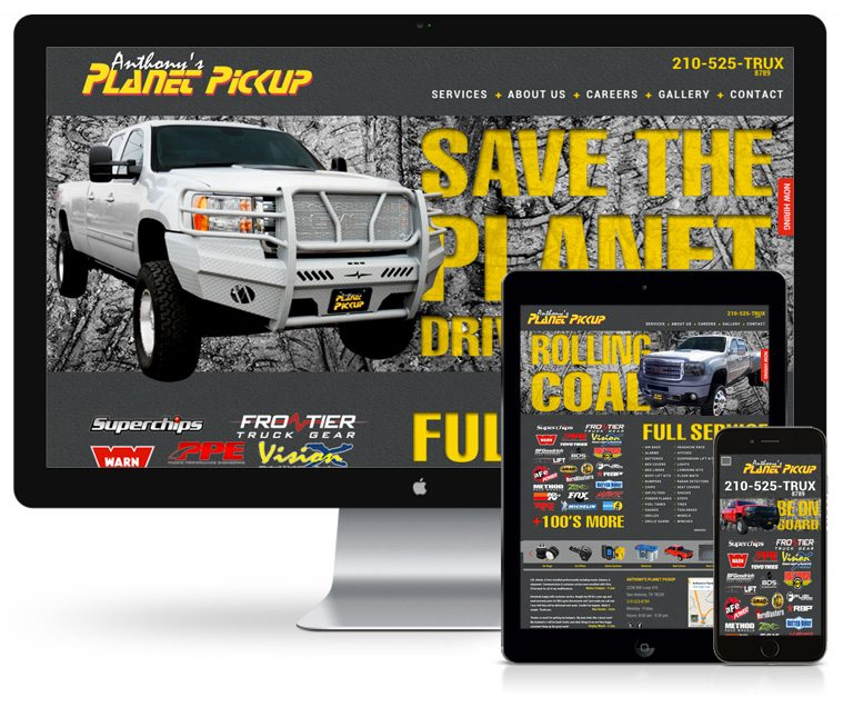 Planet Pickup Web Design
