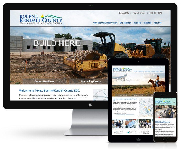 Benson Design Boerne Kendall County EDC Web Design